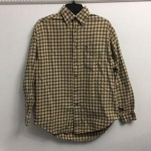 Tommy Hilfiger green & tan flannel shirt